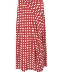 aspesi polka-dot pleated skirt