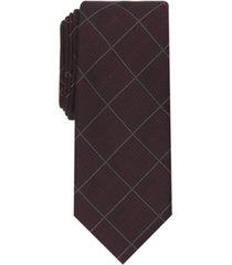 alfani men's gering plaid tie, created for macy's