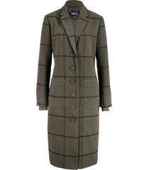 cappotto lungo a quadri con bordi a costine (verde) - bpc bonprix collection
