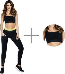 faja hot shapers by caro cruz leggings hot power sweat + top