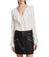 caprina ruffle blouse