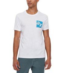 ax armani exchange men's double logo graphic pima cotton t-shirt