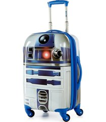"american tourister star wars r2d2 21"" hardside spinner suitcase"