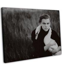 leonardo dicaprio actor star wall decor 20x16 framed canvas print