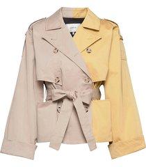 maigz short trenchcoat trench coat rock beige gestuz