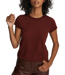 rag & bone women's the slub t-shirt - wine - size xs