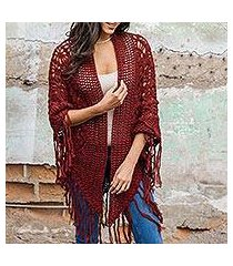 100% alpaca shawl, 'cherry blossoms' (peru)