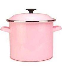 caldeirão stock pot 7,3 litros rosa satin pink le creuset