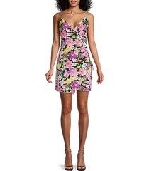 4si3nna women's cassie floral dress - black pink multicolor - size s