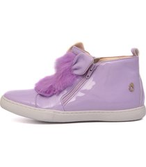 tênis sneaker lilás feminino infantil gats. - kanui