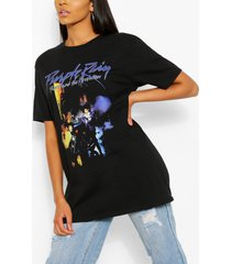 tall purple rain oversized licensed t-shirt, black
