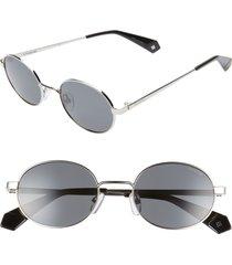 women's polaroid 51mm polarized round sunglasses -