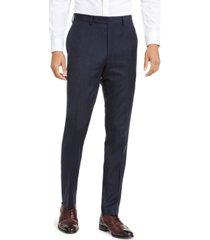calvin klein men's x-fit slim-fit stripe flannel suit pants