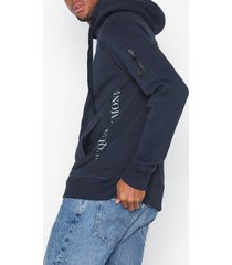 acqua limone hood sweat tröjor dark navy
