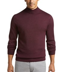 joseph abboud wine mock neck performance sweater