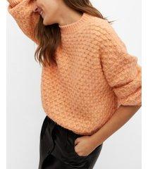 mango women's textured knit sweater