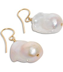 jil sander pendant earrings with pearls