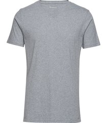 alder basic v-neck tee - gots/vegan t-shirts short-sleeved grå knowledge cotton apparel