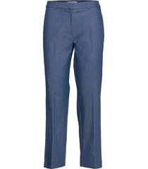 slfjeanne-emi mw denim pant w pantalon met rechte pijpen blauw selected femme