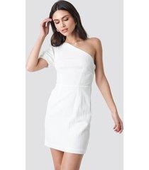 na-kd party one shoulder puff sleeve mini dress - white