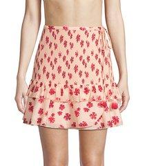 shirley smocked wrap skirt