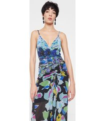 floral dress - blue - xl