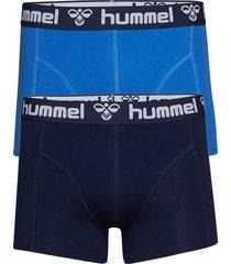 hmlmars 2pack boxers boxerkalsonger blå hummel