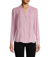 long-sleeve pleated shirt