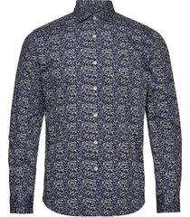arthur spread collar shirt skjorta casual blå morris