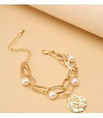 cadena gráfica de aleación de perlas de doble capa