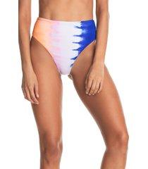 women's maaji magic trick lola reversible high waist bikini bottoms, size large - none