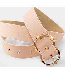 elaine double circle buckle belt - blush