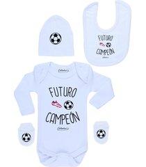 conjunto recién nacido futuro campeón blanco calambur