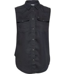 sleeveless shirt kortärmad skjorta blå lee jeans