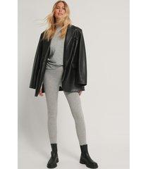 na-kd basic tights - grey