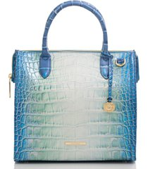 brahmin caroline soleil embossed leather satchel