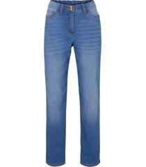 fodrade jeans med push-up-effekt och komfortmidja, raka ben