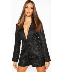 jacquard blazer, black