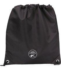 a.p.c. guitare poignard swim shoulder bag - black