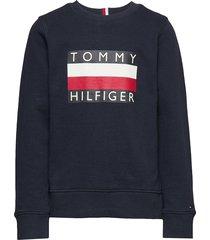 essential hilfiger sweatshirt sweat-shirt trui blauw tommy hilfiger