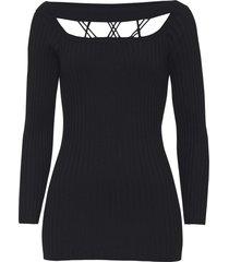 maglione a coste con cut-out (nero) - bodyflirt boutique