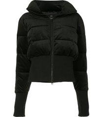 unreal fur glove-detail padded jacket - black