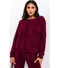 akira crazy comfy cool fuzzy wrapped sweater