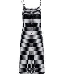 charlotte button down dress knälång klänning blå superdry