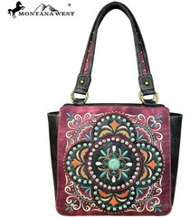 new montana west concho & floral embroidered collection tote handbag ~4 colors