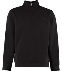 woolrich logo detail cotton sweatshirt
