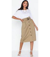 only onlkate hw belted midi skirt pnt midikjolar