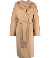 12 storeez belted wool coat - brown
