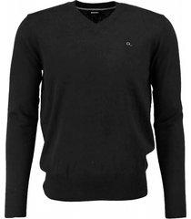 diesel zachte zwarte slim fit trui met stretch