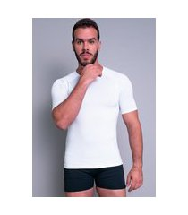camisa térmica mvb modas masculina manga curta segunda pele branco